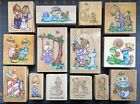 PRECIOUS MOMENTS RUBBER STAMPS RARE HTF DESIGNS and A FEW LETTERS YOU CHOOSE