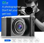 4K 24MP FHD 1080P IPS Touch Screen Wide Angle Lens Digital Camera 8X Zoom
