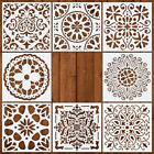 8X Reusable DIY Painting Stencil Template Drawing Template Tools Diary Card