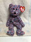 Ty Beanie Baby USA 2000 Retired Bear Patriotic 4th of July Red White Blue w Tags