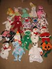 Lot of 20 Ty Beanie Babies ALL HOLIDAY THEMED BEARS++ Classic Collectibles SANTA