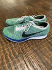 Nike Flyknit Racer Tranquil Mens Lightweight Running Shoes Green Blue Size 11