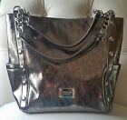 Silver Michael Kors Extra Large Tote Style Handbag