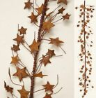 RUSTY TIN STAR GARLAND 42 DIMENSIONAL PRIMITIVE GREAT FOR CRAFTS