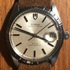 Vintage Early 1970s Tudor Rolex Prince Oysterdate Watch - Machine Turned Bezel