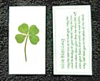 Real 4 Leaf Clover Laminated Blessing Bookmark Wallet Purse Accessories Card