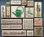 GARDEN THEME RUBBER STAMPS by STAMPIN UP PSX STAMPENDOUS UPTOWN etc YOU PICK