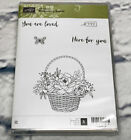Stampin Up BLOSSOMING BASKET stamp set flowers butterfly love