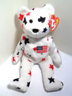 RARE TY BEANIE BABY GLORY INDEPENDENCE 1997 1998 BEAR WITH ERRORS ORIGINAL TAGS