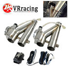 1SET 225 Electric Exhaust Downpipe E Cutout Cut Out Dual Valve Remote Wireless