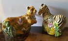Zebra and Cheetah Salt and Pepper shaker set