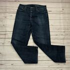 7 For All Mankind Standard Straight Dark Blue Mens Jeans Size 30x27
