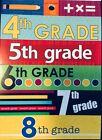 Fourth Fifth Sixth Seventh Eighth Grade Jr School Cardstock Scrapbook Stickers
