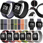 Soft Woven Nylon Loop Band Wristband For Fitbit Versa Smart Watch Band Strap