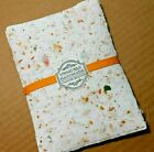 Handmade Paper Sheets 10 sheets Cream with botanicals Free Shipping 873