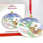 2015 Hallmark A Homecoming of the Heart Keepsake Ornament Glass Christmas Snow