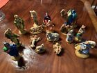 Vintage ATLANTIC MOLD CERAMIC NATIVITY Christmas MANGER FIGURINES STATUES 17 PC