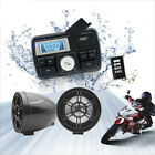 Motorcycle Bluetooth Handlebar Audio System FM Radio Stereo Amplifier Speaker