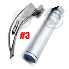 Led Laryngoscope Set Macintosh Blades Standard Handle Zipper Box Emt Kit
