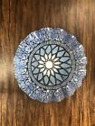 Vintage Late Mid Century Sydenstricker Fused Art Glass Blue Embassy Plate 8