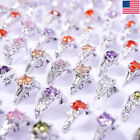 100 80Pcs Wholesale Colorful Mixed Rings Bulk Finger Band Tail Ring Jewelry Lot