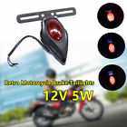 12V Retro Motorcycle Taillights LED Brake Tail W/License Plate
