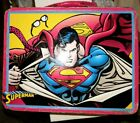 Superman Lunchbox 2003 Tin Box Co Embossed front Metal Lunch Box Super Man