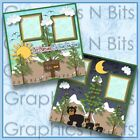 LET NATURE BE YOUR TEACHER Printed Premade Scrapbook 2 Page Layout