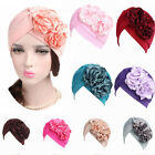 Women's Flower Bonnet Chemo Hijab Muslim Turban Beanie Head Wrap Scarf Hats--