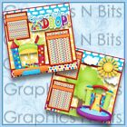 BOUNCE TILL YOU DROP Printed Premade Scrapbook 2 Page Layout