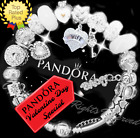 Authentic Pandora Bracelet Silver with LOVE STORY White with European Charms