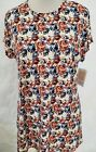 New LuLaRoe Mitzi shirt Pockets XL Red White Blue Roses flower floral