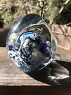 Beautiful Large Eickholt Signed Moon Geometric Paperweight