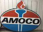 AMOCO VINTAGE 1960's 10' X 8' Double-Sided, Lighted Sign