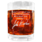 John Wooden Famous Quote Etched Glass Set