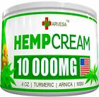 10000MG 4Oz Natural Hemp Cream For Joint Back Muscle Pain Relief Made in USA NEW