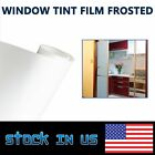 60x60 Frosted Glass Film Static Cling Window Tint Office Bedroom Bathroom Home