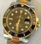 ROLEX 18K GOLD/SS SUBMARINER-MODEL 116613LN-ALL BOXES, HANG TAGS, MANUALS