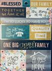 Our Big Crazy Best Family Story Blessed Gold Foiled Scrapbook Sticker