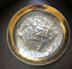 Annieglass 1987 Signet Glass 8 1 2 Round Plate With Gold Ruffle Edge