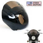 Smoked Quarter Headlight Fairing Windshield For Harley Sportster 883 1200 88-UP