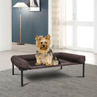 Dog Cat Sleeper Bed Elevated Pet Cot Indoor Outdoor Camping Steel Frame Mat