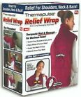 Ontel Thermapulse Relief Wrap Extra-Long Heat Wrap, Burgundy Color