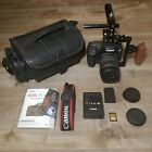 LOW SHUTTER COUNT Canon EOS 7D Mark II w EF S 18 135mm Camera Bag Rig