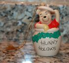 DISNEY Winnie The Pooh  Friends Hunny Holidays Ceramic Christmas Ornament
