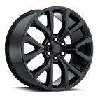 FACTORY REPRODUCTIONS FR52 Ford Expedition Rim 22X95 6X135 ET44 Blk Qty of 4