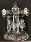 VINTAGE Shannon Crystal By Godinger Horse Carousel Merry Go Round Sculpture EUC