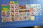 Huge Rare Vintage Sandylion Stickers Collection Lot Fuzzy Brown Backing Glitter