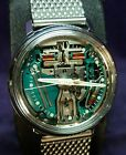 Near Mint~1966 Bulova Accutron 214 SPACE VIEW~All Stainless Steel  Mens Watch