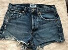 AGOLDE Womens Parker Vintage Cut Off Short Distressed Style A026E 811 Size 23